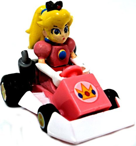 Mario Kart DS Gashapon 1.5 Inch Pull Back Racer Princess Peach Square Front Bumper