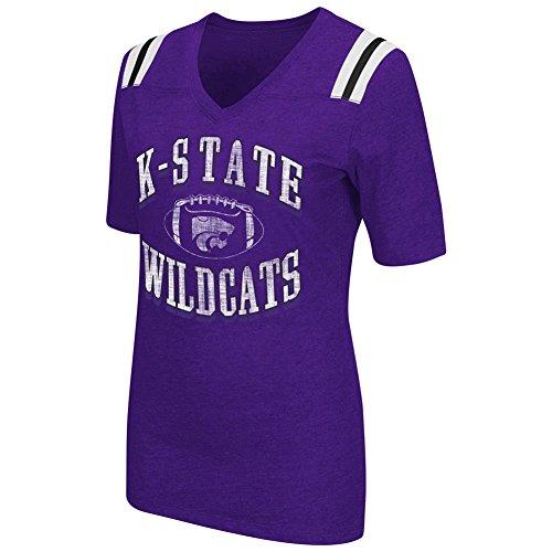 Colosseum Women's Kansas State University Artistic Football Tee (Large)