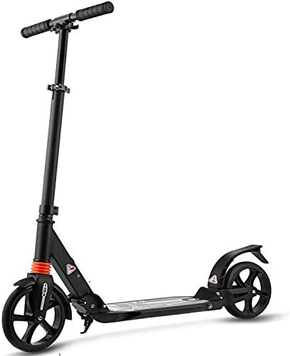 Kids Adult Scooter with 3 Seconds Easy-Folding System 200mm Big Wheels Commuter Scooter, 220lbs Adjustable City Scooter Age 8 Up