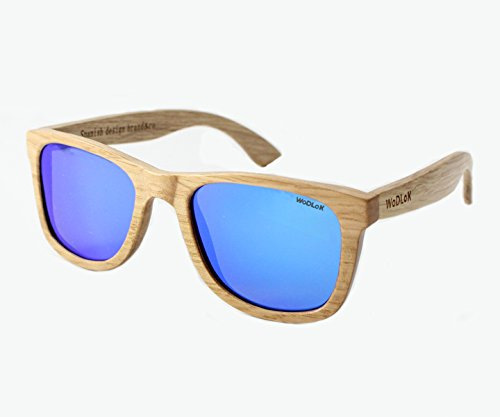 WoDLoK - Gafas de Sol Willow Nature Cristales Azul: Amazon ...