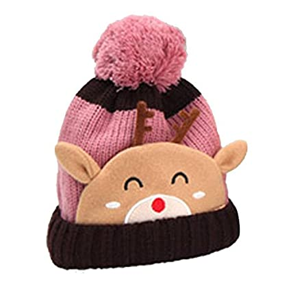 0880176122e7 Buy Generic Yellow : cute fashion Winter Baby Kids Warm Fleece Hat Earflap  Knitted Wool Cool pilot hat Cap Online at Low Prices in India - Amazon.in