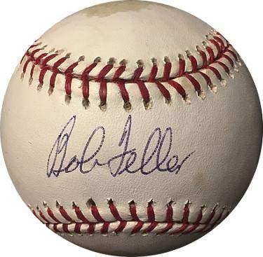 Signed Bob Feller Baseball - Official Major League tone spots Hologram #K78796) - PSA/DNA Certified Bob Feller Signed Baseball