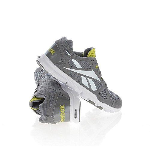 Reebok - Zapatillas de running para hombre Gris grigio e giallo