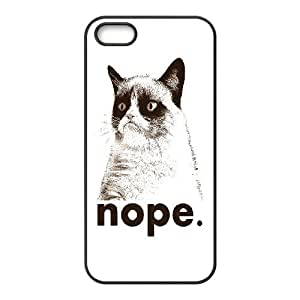 High Quality Phone Back Case Pattern Design 2Grumpy Cat,Because Cats- For Apple Iphone 5 5S Cases