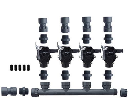 Rain Bird 100-DV Dura Manifold Valve Kit -No Flow Control -Slip 100DV (4 Zone)