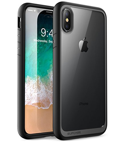 SUPCASE iPhone X Case, Unicorn Beetle Style Premium Hybrid Protective Clear Case for Apple iPhone X 2017 Release - Black - Black Protective Case