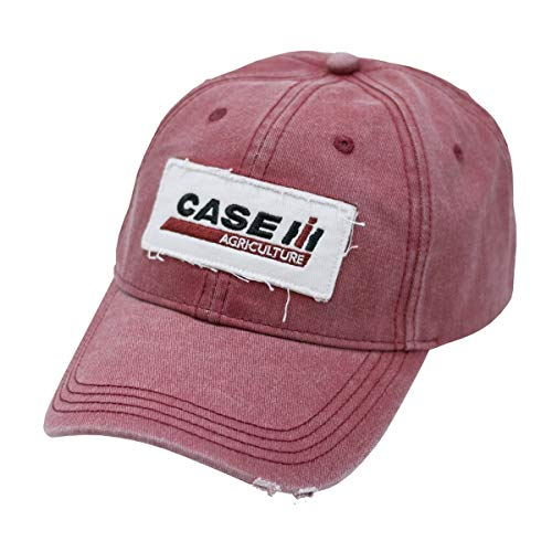 Case IH Embroidered Applique Red Stone Wash Cap - Officially ()