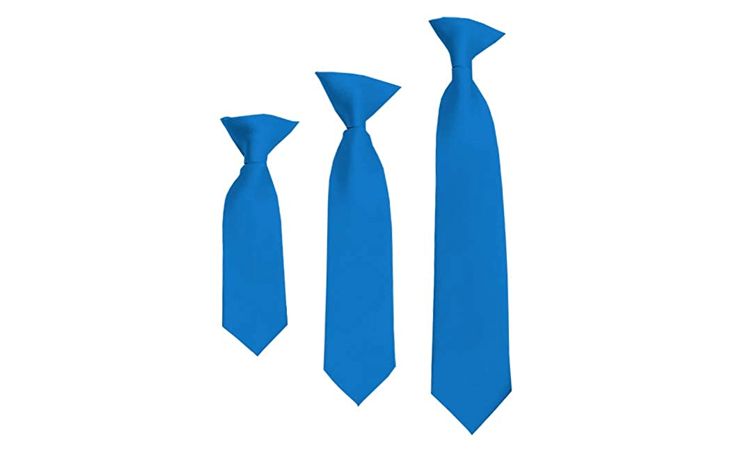 Solid Peacock Blue Boys 14 Clip On Tie