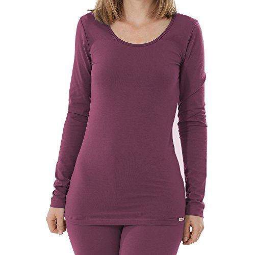 comazo Damen Shirt Langarm Bio-Baumwolle/Elasthan Brombeer 42