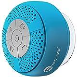 Altoparlante Bluetooth Impermeabile da Doccia TaoTronics Speaker Stereo (IPX 4, A2DP / AVRCP, Vivavoce, Microfono Integrato, Ventosa) per iPhone e Smartphone Android e Tablet PC, ecc- Azzurro