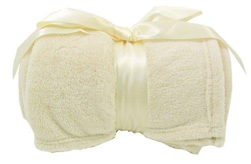 Simplicity Super Comfy Soft and Warm Plush Sherpa Throw Blankets, Vanilla