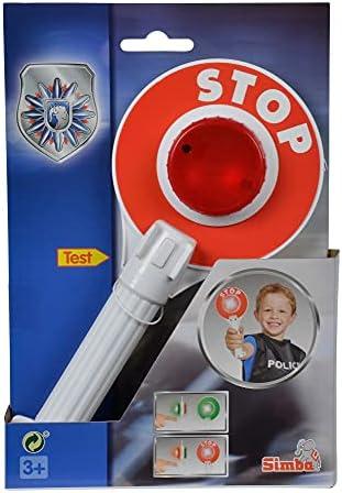 Kinder Polizeikelle Polizei Handkelle 25cm Stop Kelle rot grün Licht Karneval