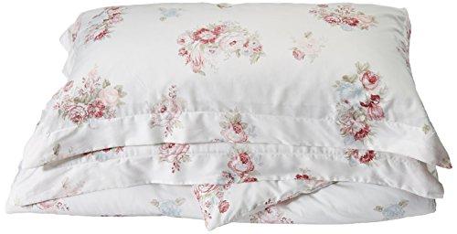 Belle Epoque Rose-Print Duvet Cover Set, White/Pink, King