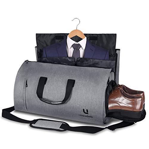 Bolsa Portatrajes Funda de Viaje para Traje Bolso Porta Trajes Ropa Vestidos Carry-On Garment Bag con Compartimentos para Zapatos y Correa Ajustable ...
