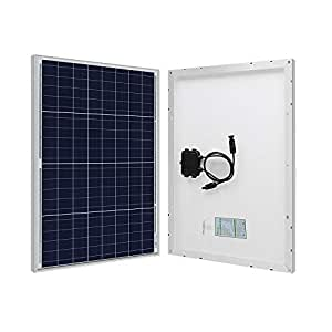 HQST 50W 12V Poly Solar Panel 50 Watt 12 Volt Off Grid Power RV Car Boat Camping