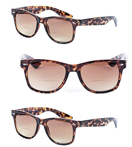 714edf43b42 3 Pair of Bifocal Reading Sunglasses for Men and Women - Outdoor Sun  Reading Glasses (
