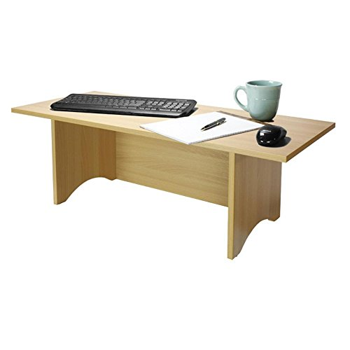 Miracle Desk Stand Up Desk - Convert a Regular Desk to Standing with Ease - Perfect for Executives, Professionals, Teachers, and Home Offices (Golden Beech, - 36 Inch Beech Desk