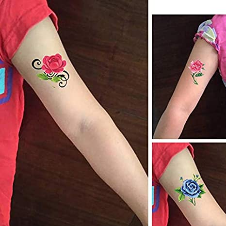 WWWWW Floral Sexy Tattoo Sticker Impermeable Mujer Rose Shade ...