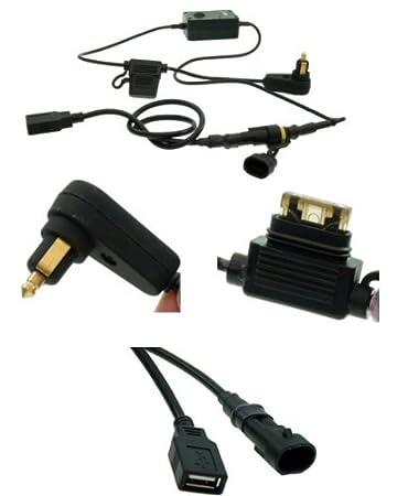 Amazon.com: Cable de alimentación USB Motociclismo Hella/DIN ...