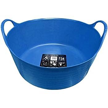 Amazon.com: TubTrug SP15BL Shallow Blue Flex Tub, 15 Liter: Home ...