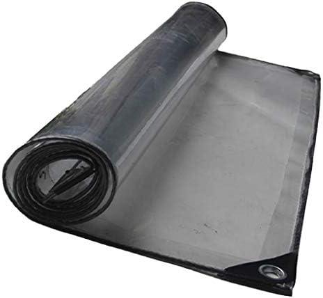 透明防水シート 防水 ターポリン 95%透明 多目的 ヘビーデューティ 折りやすい 温室 UV耐性 キャンプ釣り用ハイキング 420g /m²PVC ターポリン 庭屋根 保護