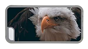 Hipster custom iPhone 5C case bald eagle bird TPU Transparent for Apple iPhone 5C