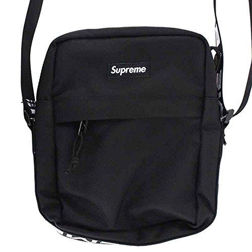 (シュプリーム) SUPREME 【18SS】【Shoulder Bag】ボックスロゴナイロンショルダーバッグ(ブラック) 中古 B07DT1DMKC
