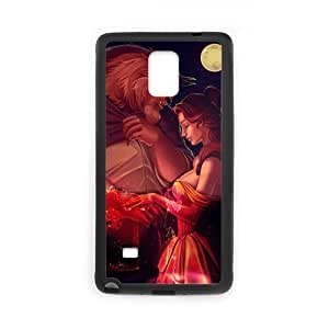 Zyhome Galaxy Note4 Fashion Beauty and the Beast Pattern Case Cover for SamSung Galaxy Note4 (Laser Technology)