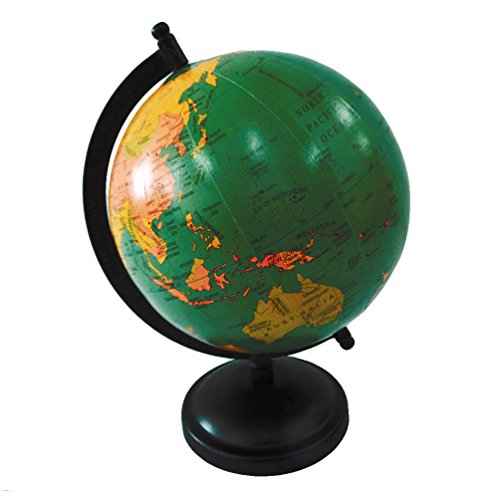 Handcrafted world map globe 6 plastic ball 95 tall standing green handcrafted world map globe 6 plastic ball 95 gumiabroncs