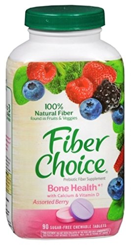 - FiberChoice Chewable Tablets Plus Calcium Assorted Berry 90 Tablets (Pack of 2)
