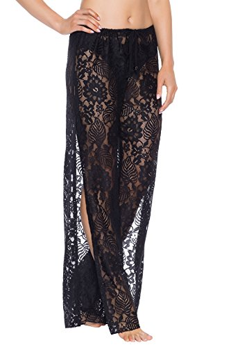 Becca-by-Rebecca-Virtue-Womens-Poetic-Lace-Side-Slit-Pants-Swim-Cover-Up