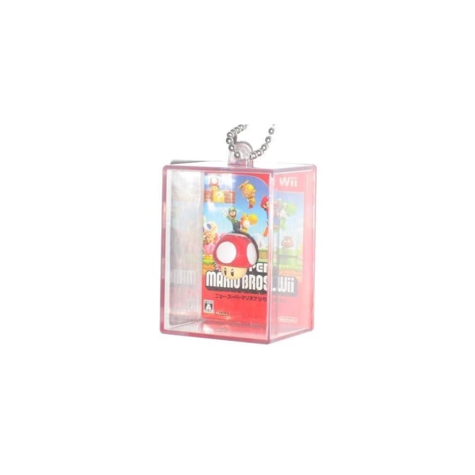 Nintendo Super Mario Bros. Figure In Box Mushroom Keychain