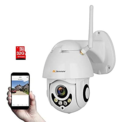 Jennov Wireless Security IP Camera, Wireless WiFi Security IP Camera HD 1080P Outdoor Indoor Night Vision CCTV Home Surveillance Pre-Installed 16G Micro-SD Card Motion Detection Remotely Access… by Shenzhen Dianchen Industrial Co.,Ltd