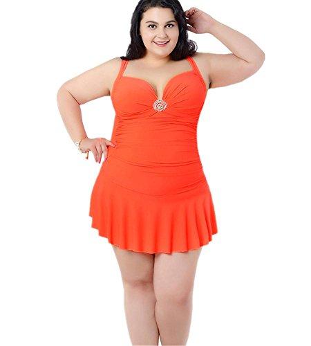 le costume orange le Female da ZOYOL dimensioni costume Era Spring bagno Con YT Beach Hot copre Siamese bagno aumentare da Sottile natiche della Fertilize cassa rilievo del stile gonna Body Cq558xZnt