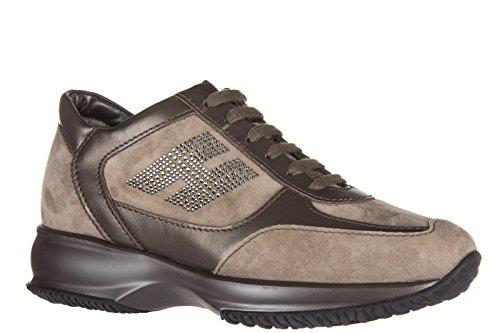 Hogan Zapatos Zapatillas de Deporte Mujer EN Ante Nuevo Interactive h Strass Mar