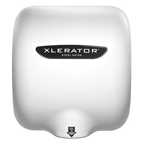 EXCEL DRYER, XL-BW-1.1N-110-120V 12.5 Amps 120V White Thermoset (Bmc) Xlerator Hand Dryer, 12.68'' x 11.75'' x 6.68'',