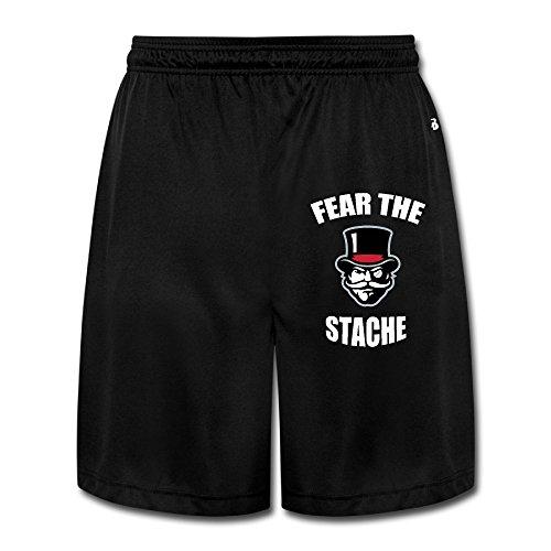 ZZYY Mens Soft APSU Governors Fear The Stache Short Pants Sports Black Size 3X - Stache Mens Short