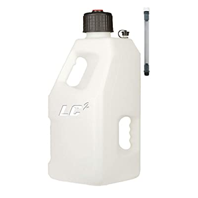 LC LC2 Utility Jug with 12 Filler Hose 5 Gallons White: Automotive