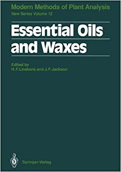 Essential Oils and Waxes (Molecular Methods of Plant Analysis)