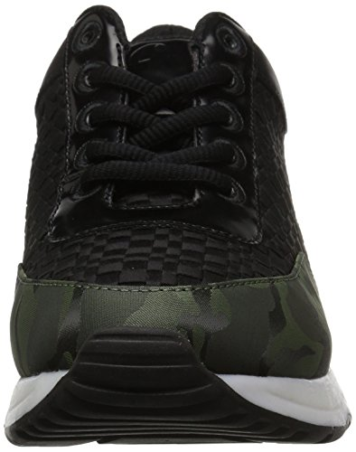 Le Donne Delle Fix Lexi Color / Material-block Jogger Sneaker Camo / Black