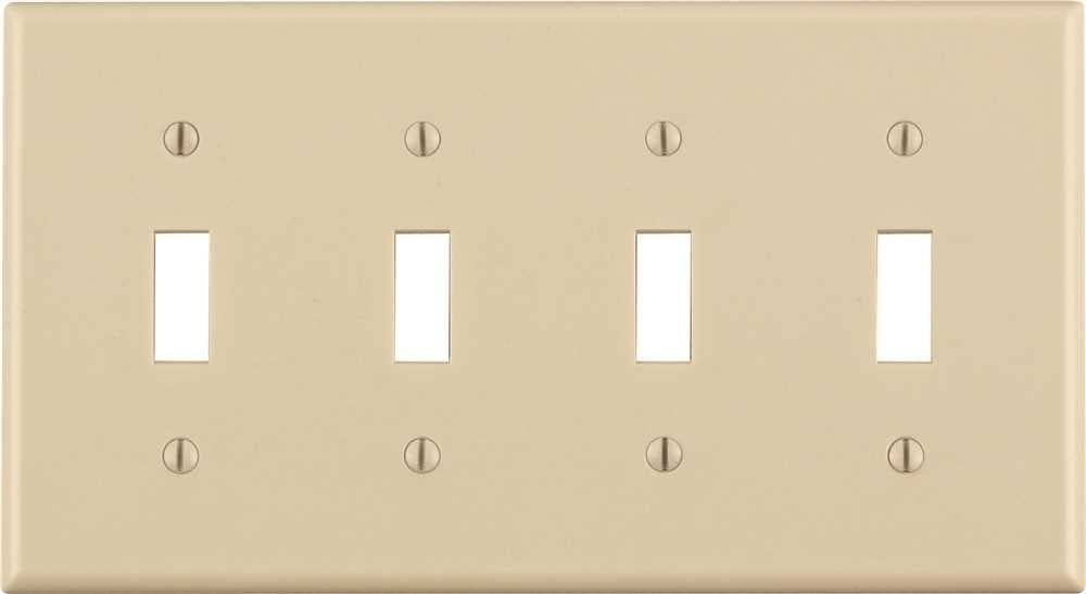 Light Almond Eaton Pjs3la Polycarbonate 3 Gang Screwless Toggle Switch Mid Size Wall Plate Tools Home Improvement Wall Plates