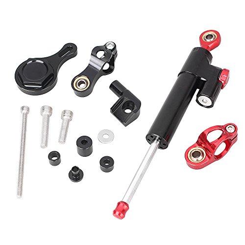 GZYF New Aluminum Steering Damper Set Fit Yamaha YZF R6 06-15 /R1 06-15 w/Bracket (Best Steering Damper For R6)