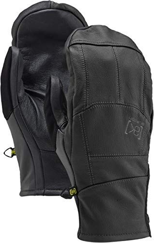 Burton Ak Leather Tech Mitts, True Black, Medium ()
