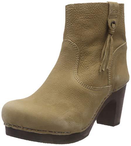 Boot Viva Beige Medium Para taupe Flex Botas Mujer 20 Sanita Plisadas Wood OIqw7pRnR