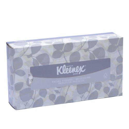 Kleenex 21606BX White Facial Tissue, 2-Ply, White, Pop-Up Box (Box of 125 Tissues)