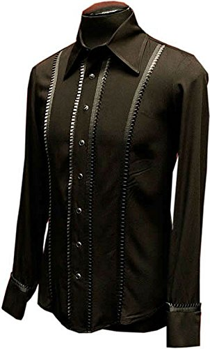 Gothic Formal Black Tuxedo Dress Shirt