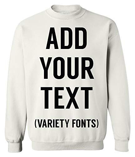 TEEAMORE Men Women Custom Crewneck Sweatshirt, Add Your Text, Design Your - Sweatshirt Crewneck Custom