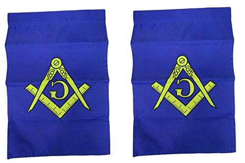 Kaputar 12x18 Mason Masonic Embroidered Garden Flag 210D Sleeved Double Sided USA Ship | Model FLG - 6681