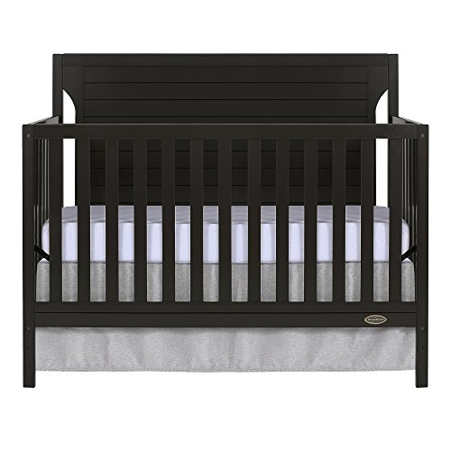 Dream On Me Cape Cod 5 in 1 Convertible Crib, Dark Brown