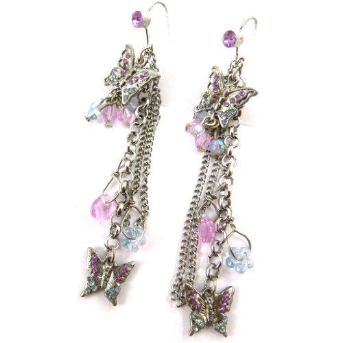 Les Trésors De Lily [J7113] - Boucles Créateur 'Papillons' violet